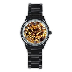Mussels Lamp Star Pattern Stainless Steel Round Watch