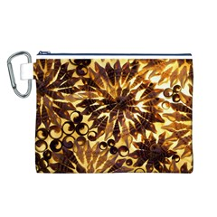Mussels Lamp Star Pattern Canvas Cosmetic Bag (l)
