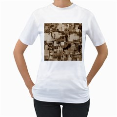 Color Abstract Background Textures Women s T Shirt (white) (two Sided)