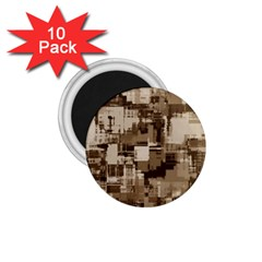 Color Abstract Background Textures 1.75  Magnets (10 pack)