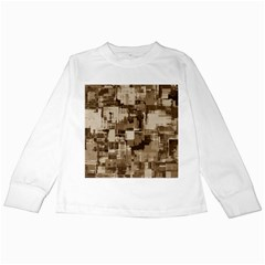 Color Abstract Background Textures Kids Long Sleeve T Shirts