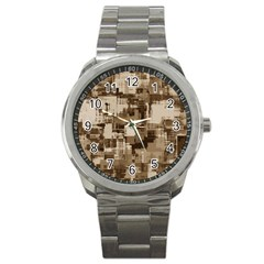 Color Abstract Background Textures Sport Metal Watch