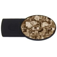 Color Abstract Background Textures Usb Flash Drive Oval (4 Gb)
