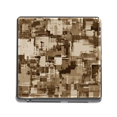 Color Abstract Background Textures Memory Card Reader (Square)