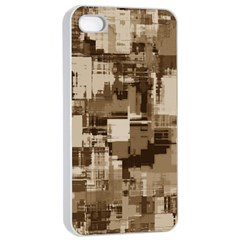 Color Abstract Background Textures Apple iPhone 4/4s Seamless Case (White)