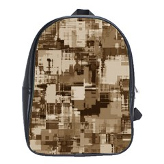 Color Abstract Background Textures School Bags (XL)