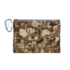 Color Abstract Background Textures Canvas Cosmetic Bag (m)