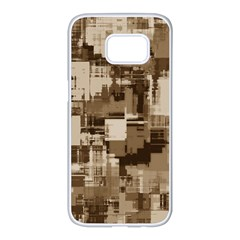 Color Abstract Background Textures Samsung Galaxy S7 Edge White Seamless Case