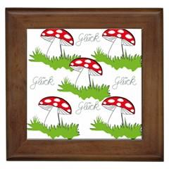 Mushroom Luck Fly Agaric Lucky Guy Framed Tiles