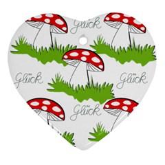 Mushroom Luck Fly Agaric Lucky Guy Ornament (Heart)