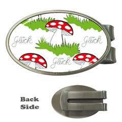 Mushroom Luck Fly Agaric Lucky Guy Money Clips (Oval)