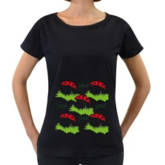 Mushroom Luck Fly Agaric Lucky Guy Women s Loose-Fit T-Shirt (Black)