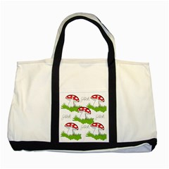 Mushroom Luck Fly Agaric Lucky Guy Two Tone Tote Bag