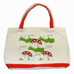 Mushroom Luck Fly Agaric Lucky Guy Classic Tote Bag (Red)