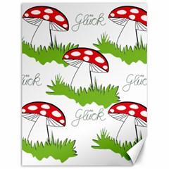 Mushroom Luck Fly Agaric Lucky Guy Canvas 12  x 16