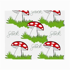 Mushroom Luck Fly Agaric Lucky Guy Small Glasses Cloth (2-Side)