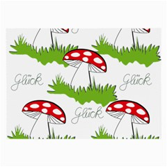 Mushroom Luck Fly Agaric Lucky Guy Large Glasses Cloth (2 Side)