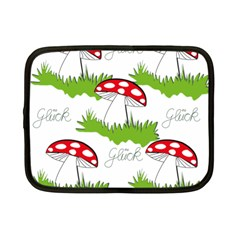 Mushroom Luck Fly Agaric Lucky Guy Netbook Case (Small)