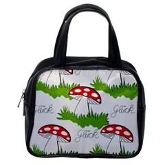 Mushroom Luck Fly Agaric Lucky Guy Classic Handbags (one Side)