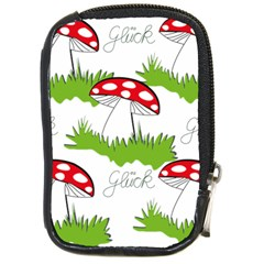 Mushroom Luck Fly Agaric Lucky Guy Compact Camera Cases