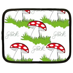 Mushroom Luck Fly Agaric Lucky Guy Netbook Case (XL)