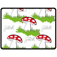 Mushroom Luck Fly Agaric Lucky Guy Fleece Blanket (large)