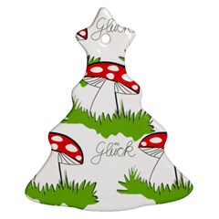 Mushroom Luck Fly Agaric Lucky Guy Christmas Tree Ornament (Two Sides)
