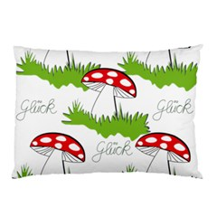 Mushroom Luck Fly Agaric Lucky Guy Pillow Case (two Sides)