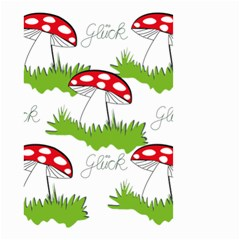 Mushroom Luck Fly Agaric Lucky Guy Small Garden Flag (two Sides)