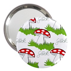 Mushroom Luck Fly Agaric Lucky Guy 3  Handbag Mirrors