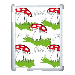Mushroom Luck Fly Agaric Lucky Guy Apple iPad 3/4 Case (White)