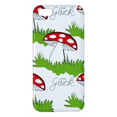 Mushroom Luck Fly Agaric Lucky Guy Apple iPhone 5 Premium Hardshell Case