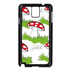 Mushroom Luck Fly Agaric Lucky Guy Samsung Galaxy Note 3 N9005 Case (black)