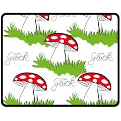Mushroom Luck Fly Agaric Lucky Guy Double Sided Fleece Blanket (medium)