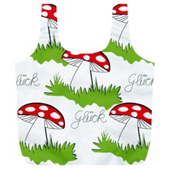 Mushroom Luck Fly Agaric Lucky Guy Full Print Recycle Bags (L)