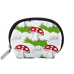 Mushroom Luck Fly Agaric Lucky Guy Accessory Pouches (small)