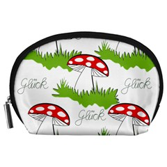 Mushroom Luck Fly Agaric Lucky Guy Accessory Pouches (large)