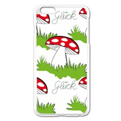 Mushroom Luck Fly Agaric Lucky Guy Apple Iphone 6 Plus/6s Plus Enamel White Case