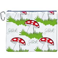 Mushroom Luck Fly Agaric Lucky Guy Canvas Cosmetic Bag (XXXL)