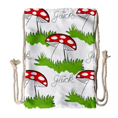 Mushroom Luck Fly Agaric Lucky Guy Drawstring Bag (Large)