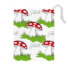 Mushroom Luck Fly Agaric Lucky Guy Drawstring Pouches (Extra Large)