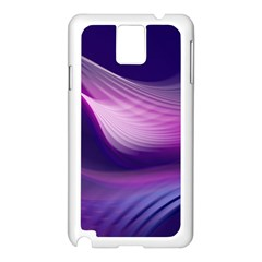 Abstract Purple1 Samsung Galaxy Note 3 N9005 Case (White)
