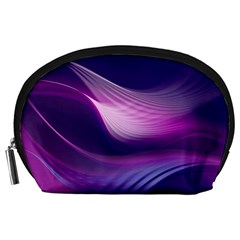 Abstract Purple1 Accessory Pouches (Large)