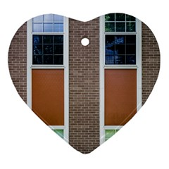 Pattern Symmetry Line Windows Ornament (Heart)
