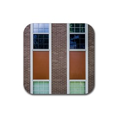 Pattern Symmetry Line Windows Rubber Square Coaster (4 pack)