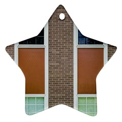 Pattern Symmetry Line Windows Star Ornament (two Sides)