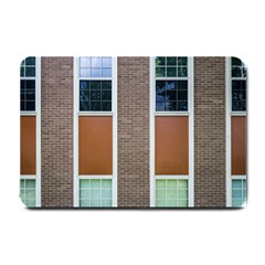 Pattern Symmetry Line Windows Small Doormat