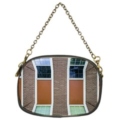 Pattern Symmetry Line Windows Chain Purses (two Sides)