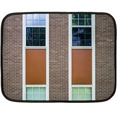 Pattern Symmetry Line Windows Fleece Blanket (Mini)
