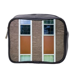 Pattern Symmetry Line Windows Mini Toiletries Bag 2 Side